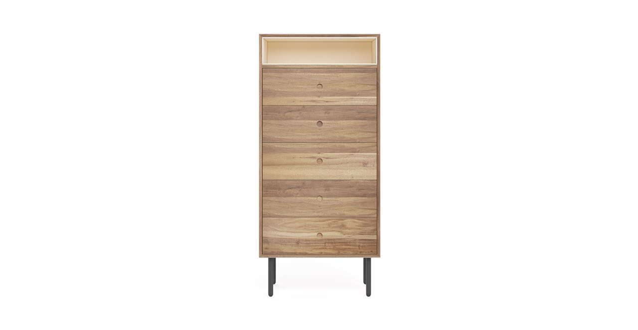 Picture Of Kidd Chest Of Drawers Stone Washed Acacia